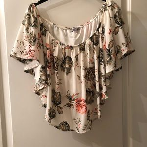 Charlotte Russe ruffle crop